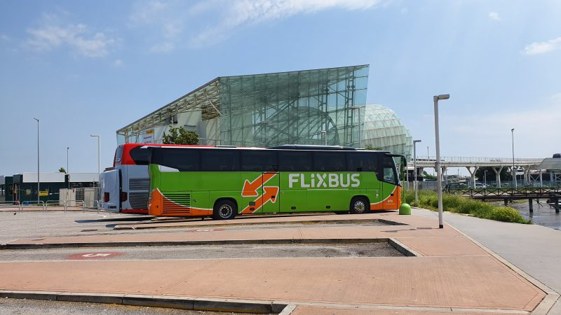 Taking the Flixbus from Venice to Trento, Italy