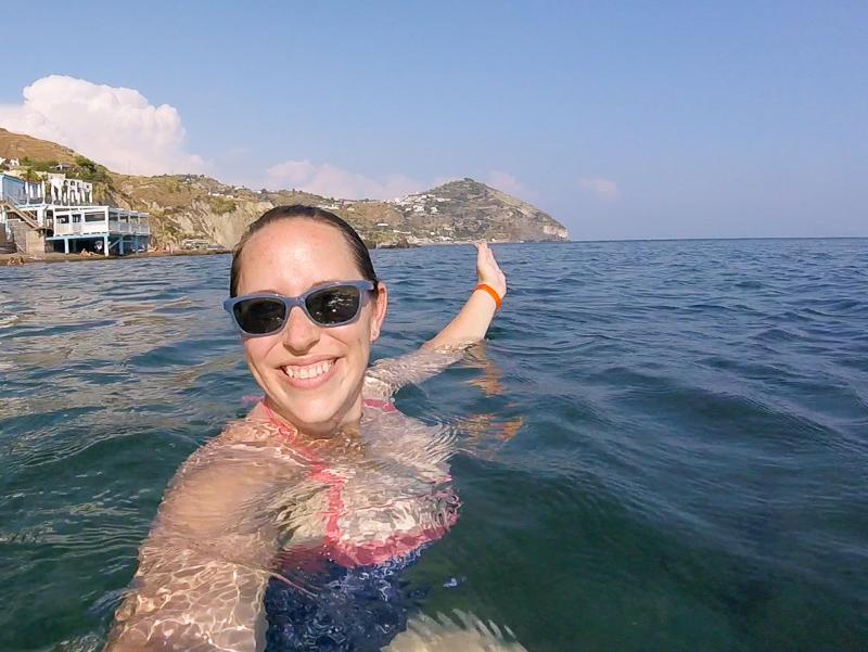 Jessica in the sea at Aphrodite Apollon