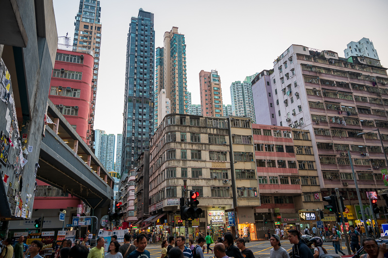 Hong Kong just before sunset