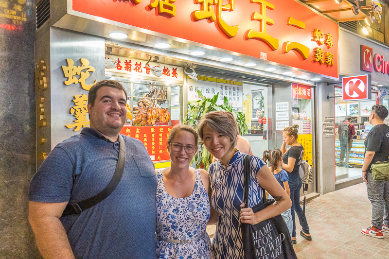 Sean and Jessica with Ashley of Hong Kong food crawlers