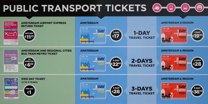Amsterdam transit ticket at Schiphol airport