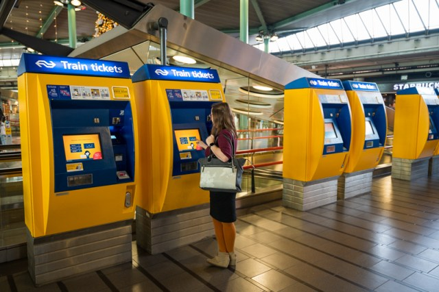 NS ticket machines at Amsterdam Airport Schiphol
