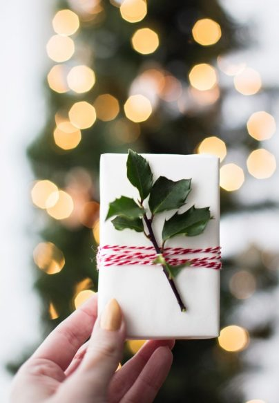 wrapped gift card for friends and family who moved abroad