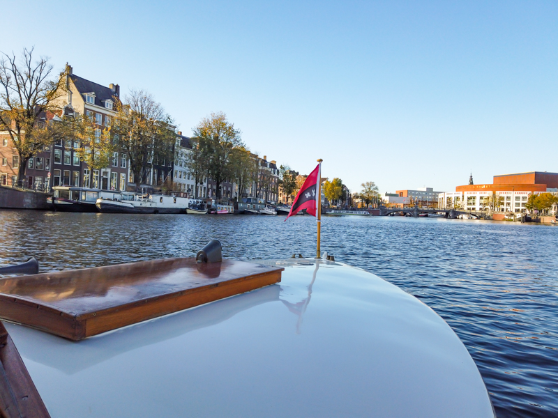 View from canal cruise on the Amstel River