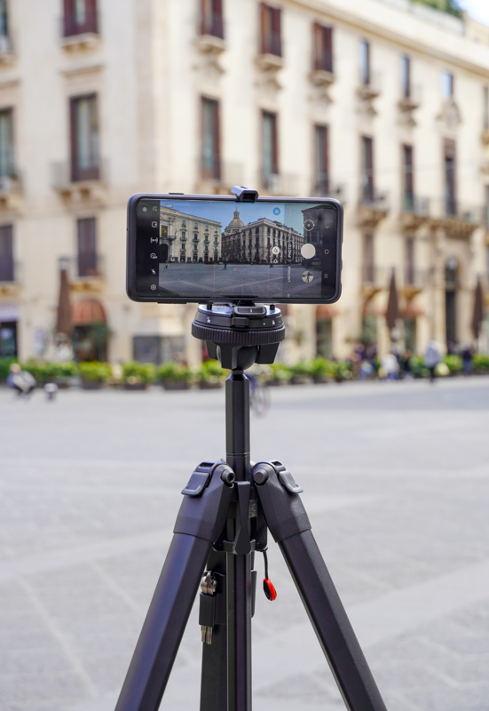 Tripod with cell phone adapter