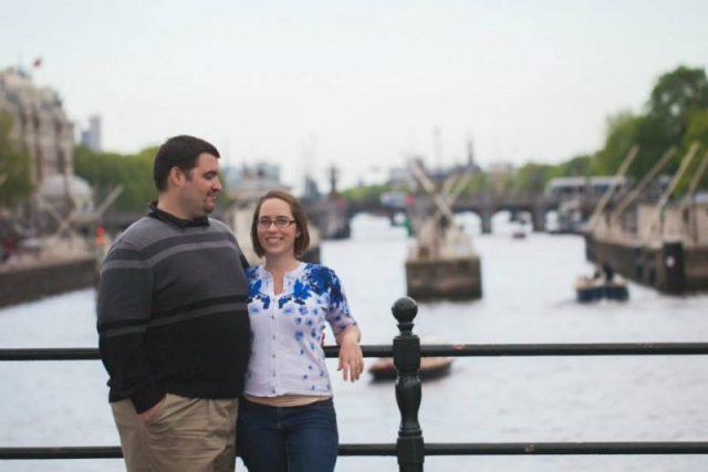 Sean and Jess in Amsterdam bridge - Kelvin Wu Photography
