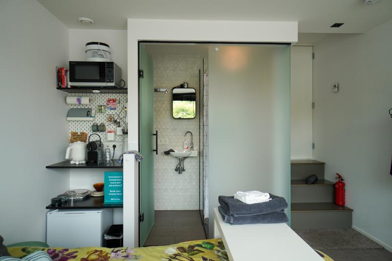 houseboat kitchen and bathroom