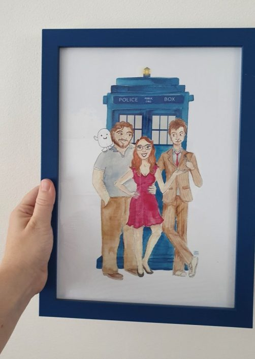 Doctor Who Commissioned painting