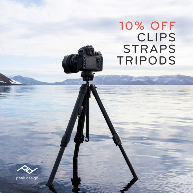 Travel gear Black Friday Sale } Peak Design tripods, straps and clips