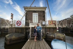 Sean and Jessica at most romantic hotel in Amterdam Sweets Hotel