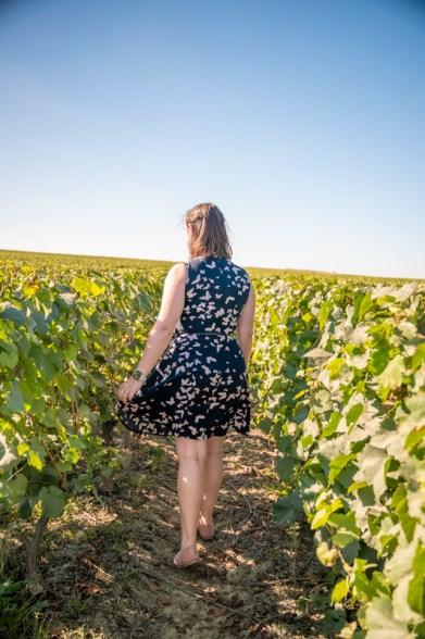 Jessica in Belgian vineyard