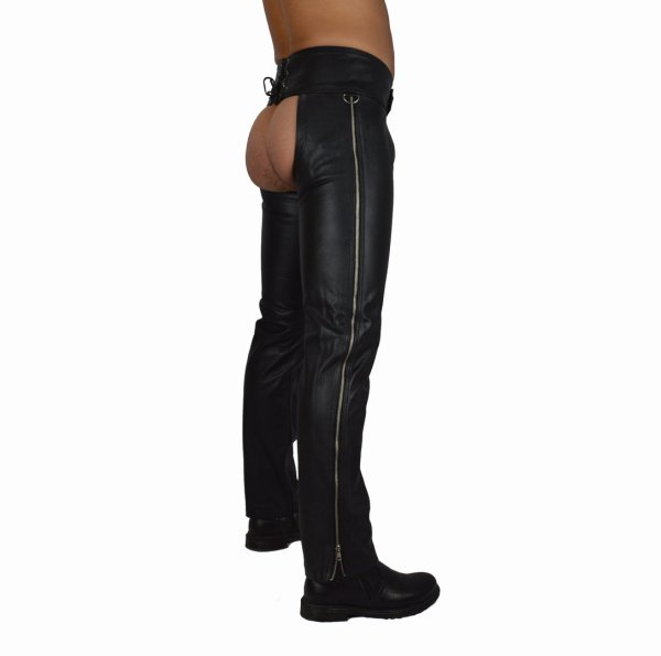 Leather Chaps With Side Zipper - Awanstar Fashion