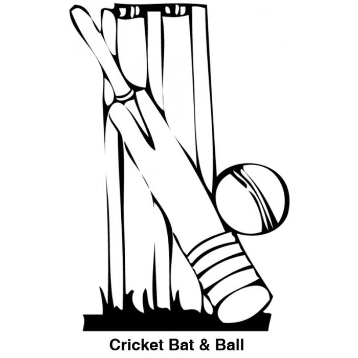 Cricket Bat Coloring Pages Sketch Coloring Page