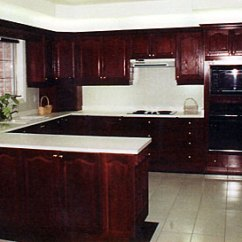 Cost Of Refacing Kitchen Cabinets Industrial Award Refacers - A Dark Stained Wood Can ...