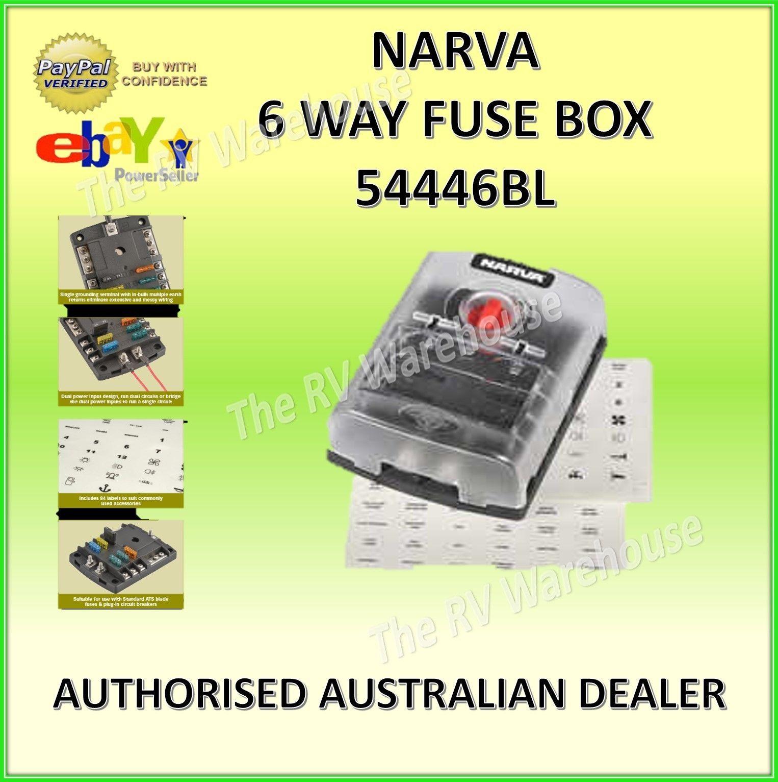 hight resolution of narva 54446 6 way fuse box marine motorhome 12v marine caravan car motorhome