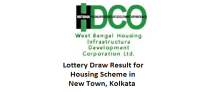 WBHIDCO - Lottery Draw Result for EWS Flats in New Town Kolkata
