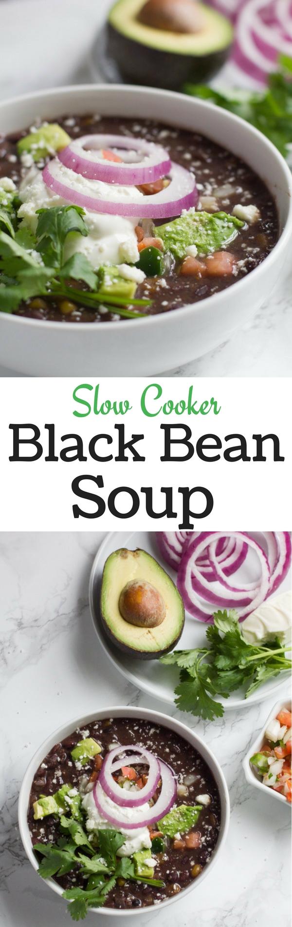 Black Beans | Soup | Slow Cooker | Crock Pot | Winter Soups | Easy Recipes | Mexican Soup