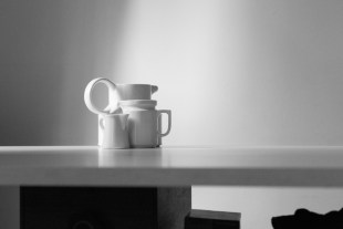 three jugs, black and white-1
