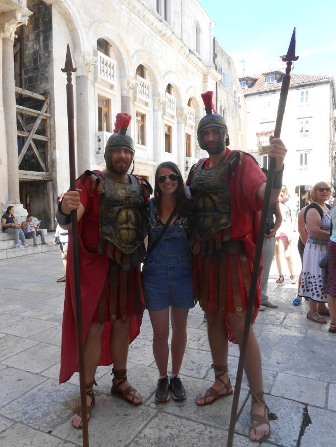 The only picture I have with other people from my solo trips?? Hung out with these guys in Split, Croatia and after laughing together at over-eager tourists they gave me free strawberries // Split, Croatia