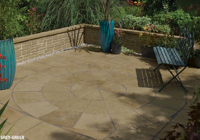 paving circles circular patio slab