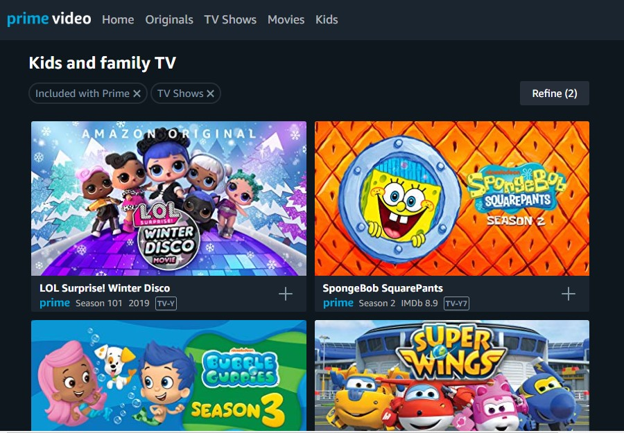 Amazon animation Prime video like 9anime