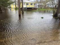 Overland flooding in Albert Beach, MB