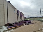 Strong winds ripped the roof off of The Bridge Church in Winnipeg, MB.