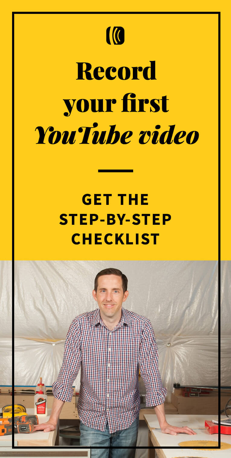 Record your first YouTube video