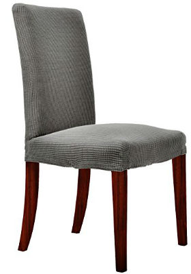 Chunyi Jacquard Polyester Spandex Small Checks Dining Chair Covers