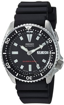Seiko SKX173 Stainless Steel and Black Polyurethane Dive Watch