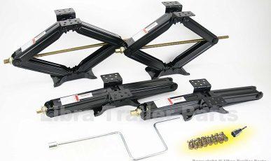 "Libra 5000 lb 24"" RV Trailer Stabilizer Leveling Scissor Jacks"