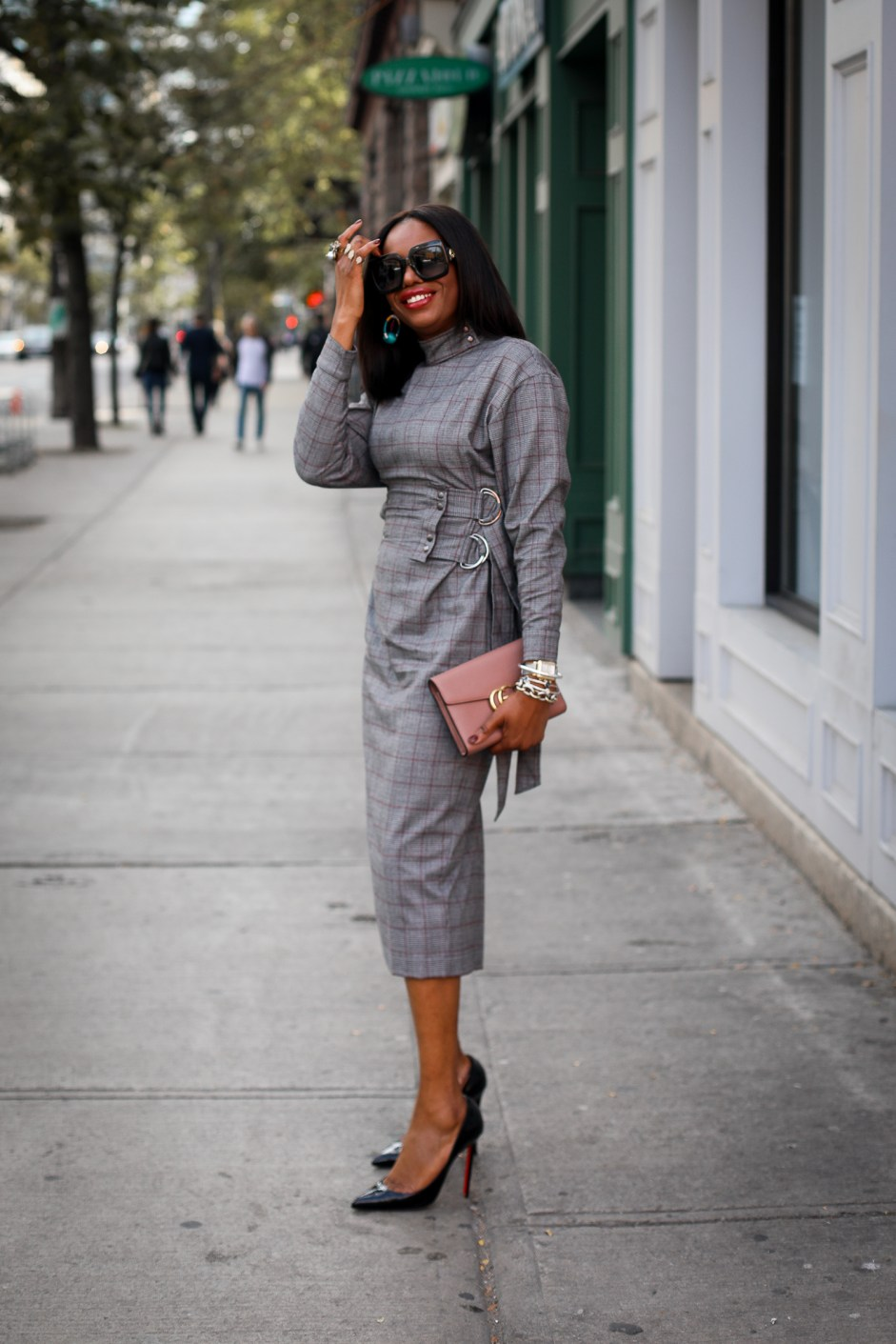 Long sleeve plaid dress. Fall fashion, Atlanta Blogger, Fashion trends, what to wear for fall-4