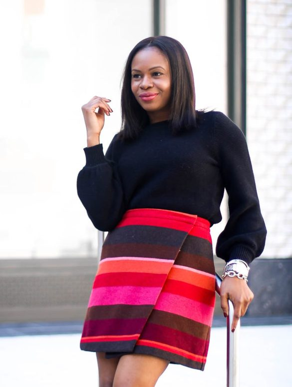 Dressy sweater for the holidays with the Loft-1