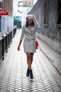 hondstooth blazer dress and louboutin booties atlanta blogger, holiday fashion-25