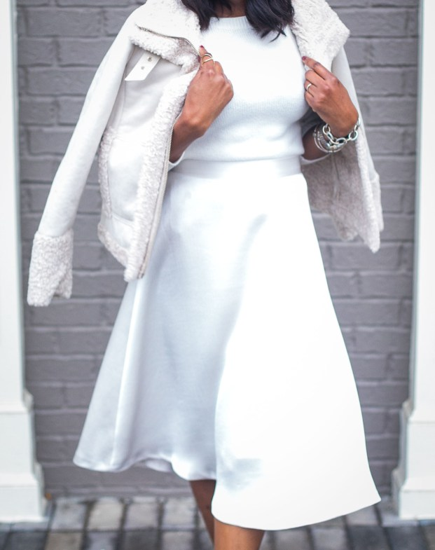 How to style an all white outfit for the winter Atlanta fashion blogger wearing white coat. Holiday outfit -16