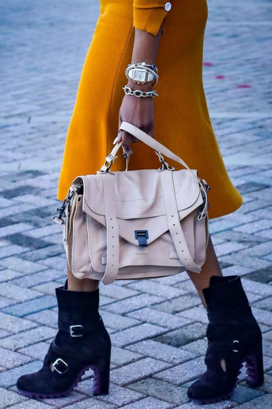 Yellow knit set worn with brown booties and proenza schouler PS1 bag and gucci sunglasses. worn by Atlanta fashion and lifestyle blogger-3