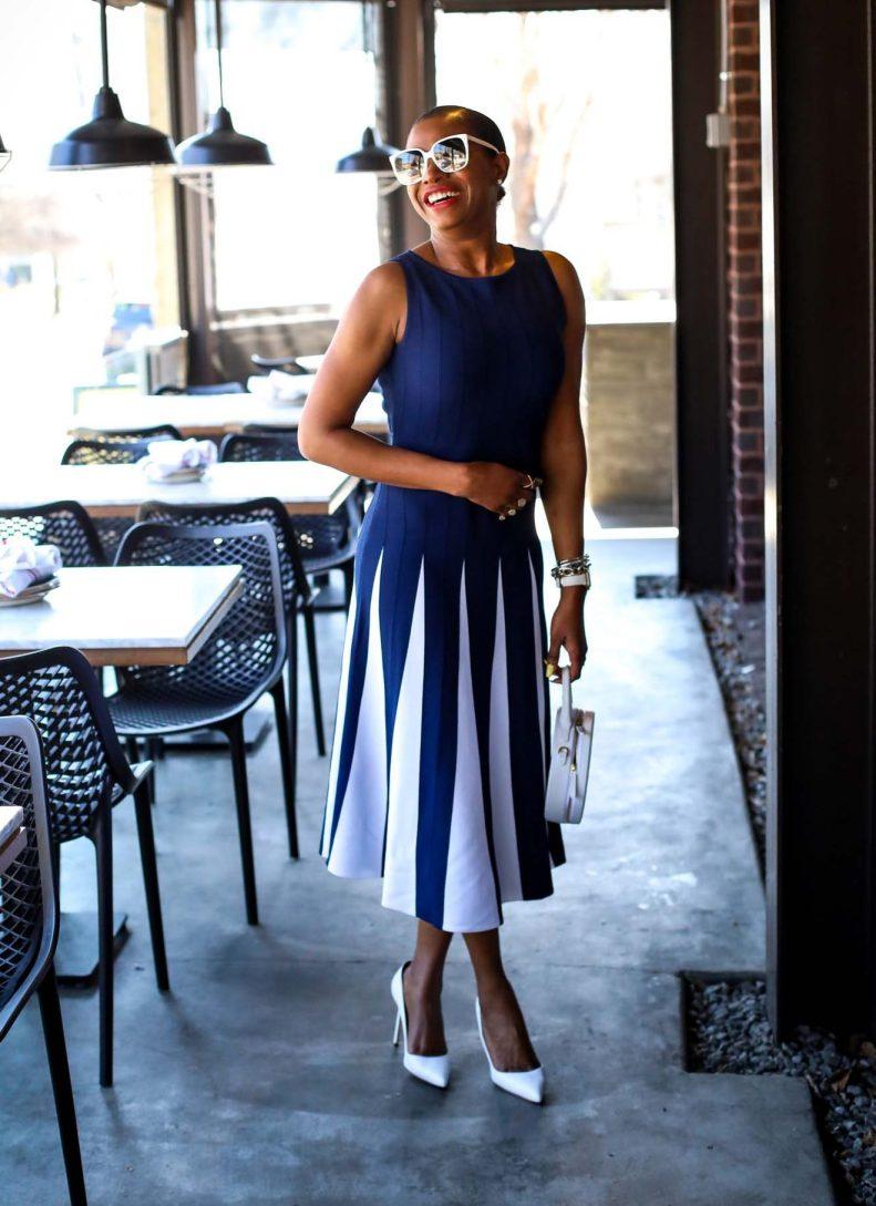 spring navy dress