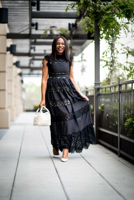 how to style a black dress for summer-3