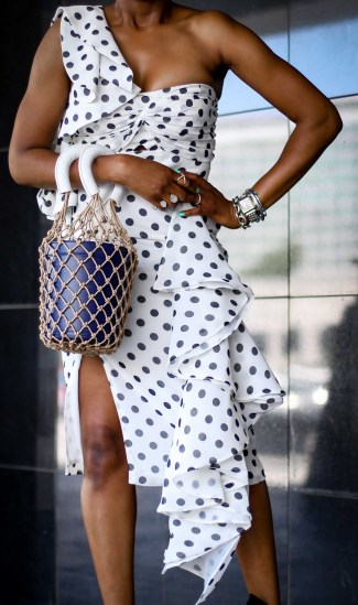 polka-dots nd ruffles, how to style the fashion trend all fashion girls love by Atlanta fashion and style blogger-8