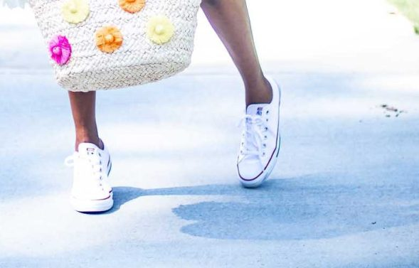 How to style converse sneakers with a dress by Atlanta fashion blogger Monica Awe-Etuk