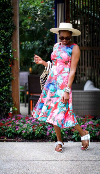 how to style a floral dress to the beach by atlanta fashion blogger-5