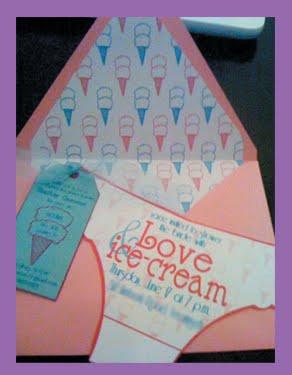 Love & Ice Cream Bachelorette Party Invitation