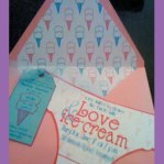 Love & Ice Cream Bachelorette Party Invitation