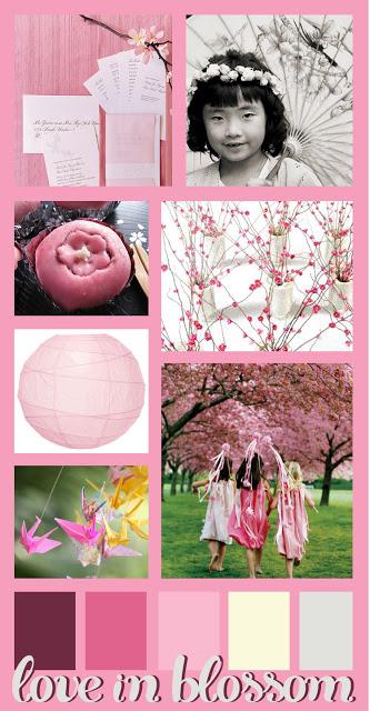 love in blossom inspiration board