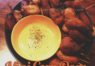Mini Corndogs // A Well Crafted Party