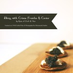 Blinis with Crème Fraîche and Caviar // A Well Crafted Party