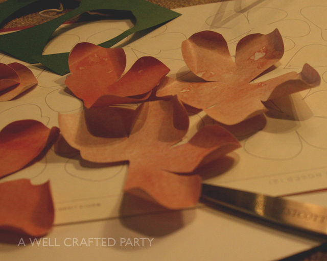 Paper flowers cut out