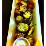 Grilled Potatoes topped with blue Cheese Crumbles // A Well Crafted Party