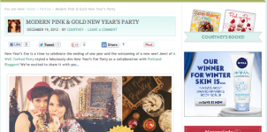 Featured: Chic & Modern NYE Party on Pizzazzerie