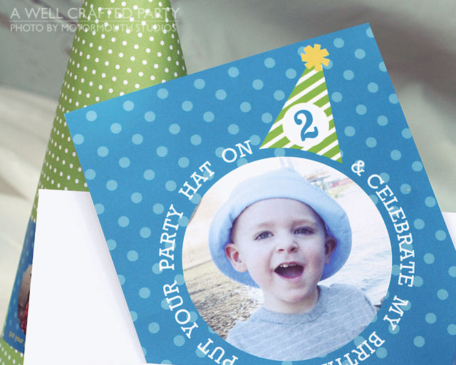 party hat invitation from Tiny Prints